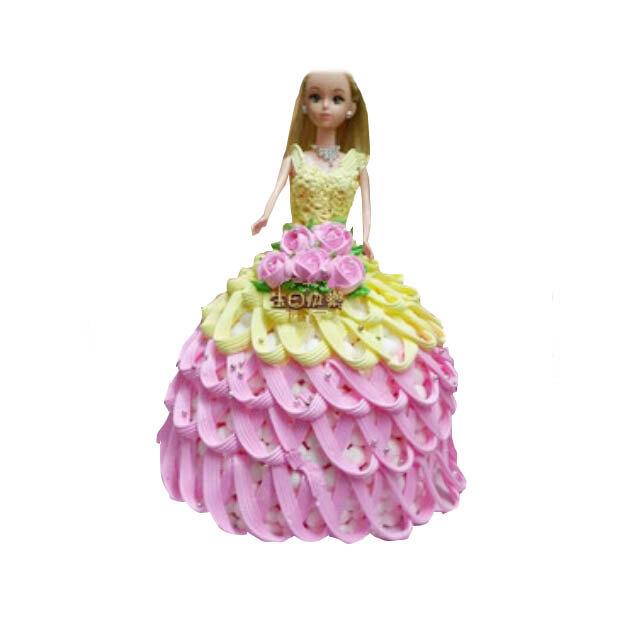 可爱的芭比娃娃,带着甜甜的笑容