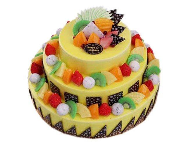 三层水果蛋糕-8663(元润点心店)