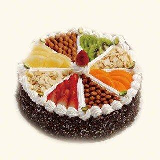 圆形欧式水果蛋糕