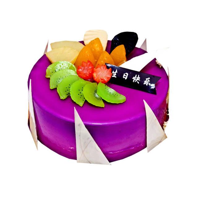 紫色水果可爱简笔画