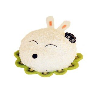 蛋糕盘手工制作图片动物小白兔