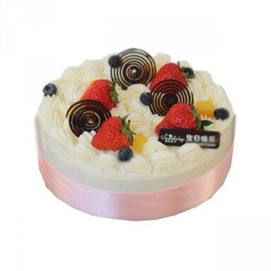 4寸可爱蛋糕照片