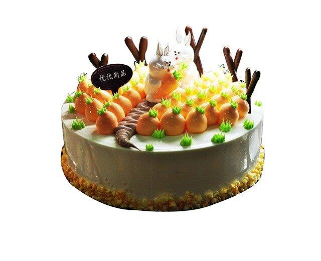蛋糕造型,品一口仿佛身临其境来到这片胡萝卜森林,与可爱的兔子伙伴